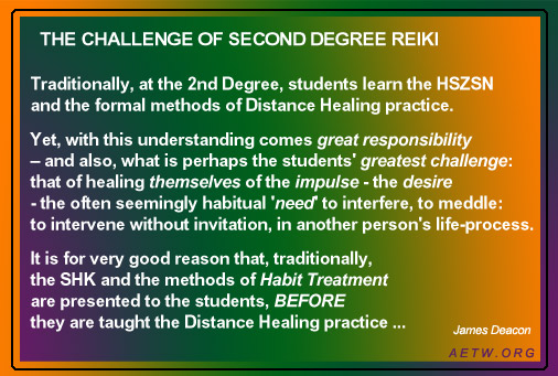 The Challenge of Second Degree Reiki