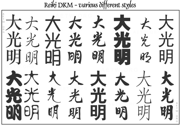 Various styles of writing the DKM