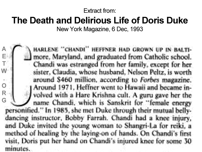 Doris Duke practices Reiki